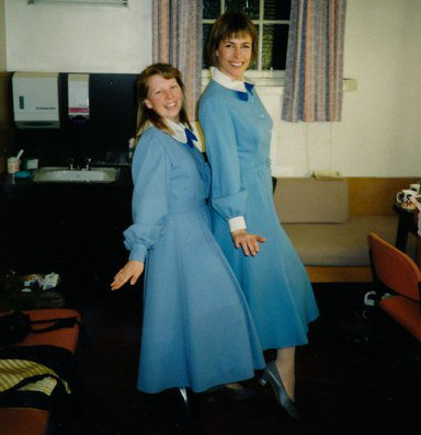 Su with Liz Robertson, Sound of Music Tour 1992